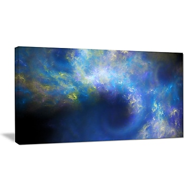 DesignArt 'Perfect Whirlwind Starry Sky' Graphic Art on Wrapped Canvas; 12'' H x 20'' W x 1'' D