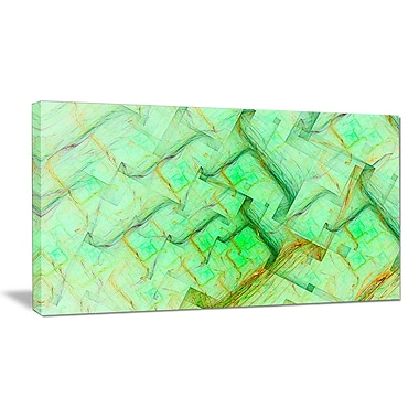 DesignArt 'Light Green Electric Lightning' Graphic Art on Wrapped Canvas; 20'' H x 40'' W x 1'' D