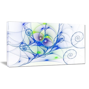 DesignArt 'Blue Colored Curly Spiral' Graphic Art on Wrapped Canvas; 16'' H x 32'' W x 1'' D