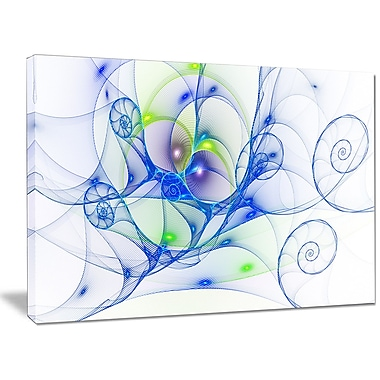 DesignArt 'Blue Colored Curly Spiral' Graphic Art on Wrapped Canvas; 30'' H x 40'' W x 1'' D