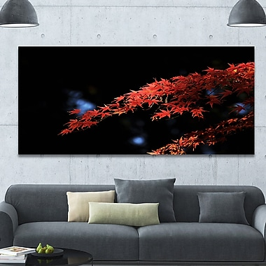 DesignArt 'Fall Foliage of Maple Leaves' Photographic Print on Wrapped Canvas