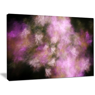 DesignArt 'Perfect Pink Starry Sky' Graphic Art on Wrapped Canvas; 30'' H x 40'' W x 1'' D