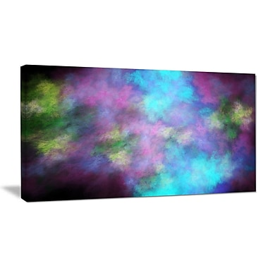 DesignArt 'Perfect Blue Purple Starry Sky' Graphic Art on Wrapped Canvas; 16'' H x 32'' W x 1'' D