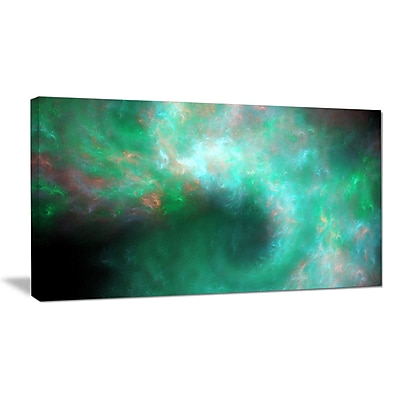 DesignArt 'Perfect Clear Blue Starry Sky' Graphic Art on Wrapped Canvas; 20'' H x 40'' W x 1'' D