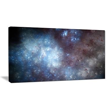 DesignArt 'Blue Grey Starry Fractal Sky' Graphic Art on Wrapped Canvas; 20'' H x 40'' W x 1'' D