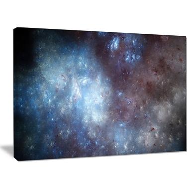 DesignArt 'Blue Grey Starry Fractal Sky' Graphic Art on Wrapped Canvas; 30'' H x 40'' W x 1'' D