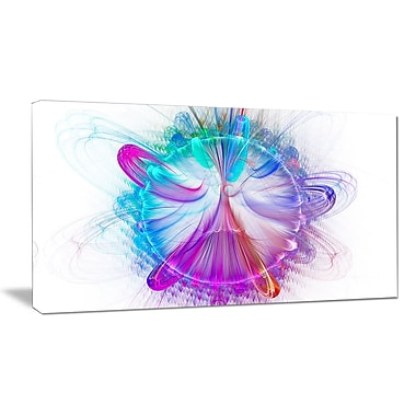 DesignArt 'Vortices of Energy Fractal' Graphic Art on Wrapped Canvas; 12'' H x 20'' W x 1'' D