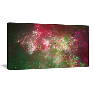 DesignArt 'Colorful Starry Fractal Sky' Graphic Art on Wrapped Canvas; 12'' H x 20'' W x 1'' D
