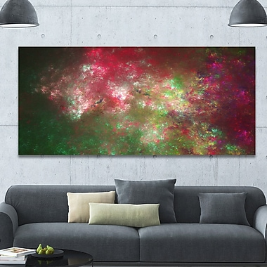 DesignArt 'Colorful Starry Fractal Sky' Graphic Art on Wrapped Canvas; 28'' H x 60'' W x 1.5'' D