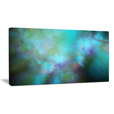 DesignArt 'Perfect Blue Starry Sky' Graphic Art on Wrapped Canvas; 16'' H x 32'' W x 1'' D