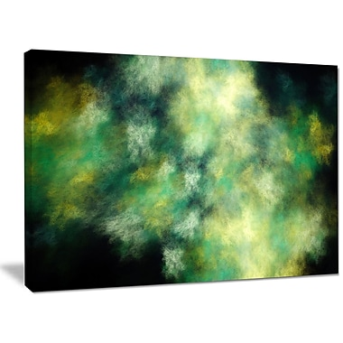 DesignArt 'Perfect Green Starry Sky' Graphic Art on Wrapped Canvas; 30'' H x 40'' W x 1'' D