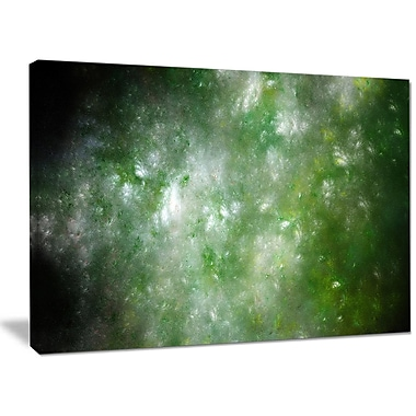 DesignArt 'Blur Green Starry Fractal Sky' Graphic Art on Wrapped Canvas; 30'' H x 40'' W x 1'' D