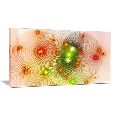 DesignArt 'Orange Fractal Lights in Fog' Graphic Art on Wrapped Canvas; 20'' H x 40'' W x 1'' D