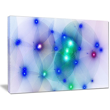DesignArt 'Blue Fractal Lights in Fog' Graphic Art on Wrapped Canvas; 30'' H x 40'' W x 1'' D