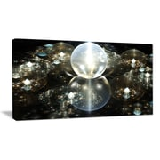 DesignArt 'Golden Water Drops on Mirror' Graphic Art on Wrapped Canvas; 20'' H x 40'' W x 1'' D