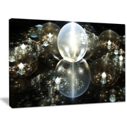 DesignArt 'Golden Water Drops on Mirror' Graphic Art on Wrapped Canvas; 30'' H x 40'' W x 1'' D