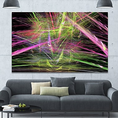 DesignArt 'Green Pink Magical Fractal' Graphic Art on Wrapped Canvas; 40'' H x 60'' W x 1.5'' D