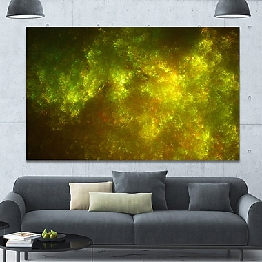DesignArt 'Clear Golden Starry Fractal Sky' Graphic Art on Wrapped Canvas; 40'' H x 60'' W x 1.5'' D