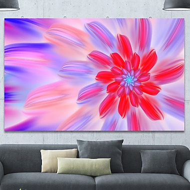 DesignArt 'Dance of Fractal Pink Petals' Graphic Art on Wrapped Canvas; 40'' H x 60'' W x 1.5'' D