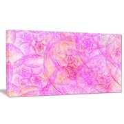 DesignArt 'Rose Fractal Dramatic Clouds' Graphic Art on Wrapped Canvas; 20'' H x 40'' W x 1'' D