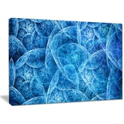 DesignArt 'Dark Blue Fractal Dramatic Clouds' Graphic Art on Wrapped Canvas; 30'' H x 40'' W x 1'' D