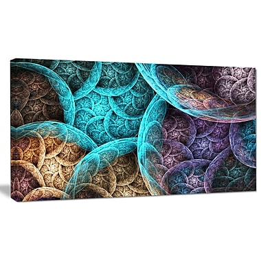 DesignArt 'Colorful Dramatic Clouds' Graphic Art on Wrapped Canvas; 12'' H x 20'' W x 1'' D