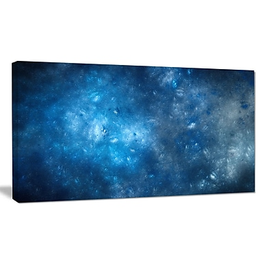 DesignArt 'Clear Blue Starry Fractal Sky' Graphic Art on Wrapped Canvas; 12'' H x 20'' W x 1'' D