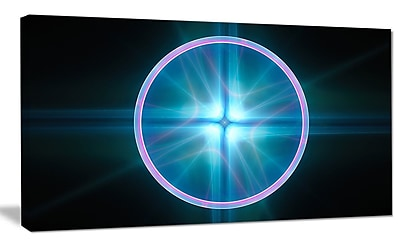 DesignArt 'Blue Sphere of Cosmic Mind' Graphic Art on Wrapped Canvas; 20'' H x 40'' W x 1'' D