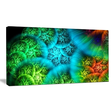 DesignArt 'Biblical Sky w/ Green Clouds' Graphic Art on Wrapped Canvas; 16'' H x 32'' W x 1'' D