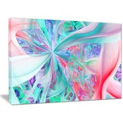 DesignArt 'Multi-Color Fractal Exotic Plant Stems' Graphic Art on Wrapped Canvas