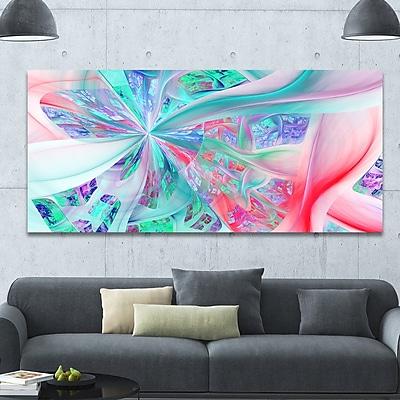 DesignArt 'Multi-Color Fractal Exotic Plant Stems' Graphic Art on Wrapped Canvas