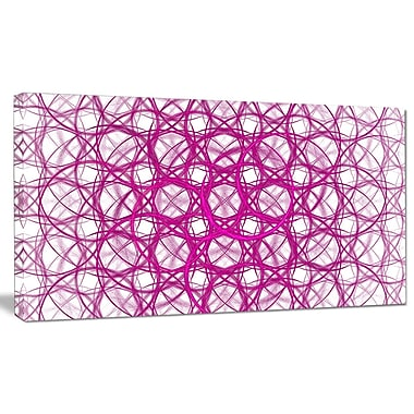 DesignArt 'Pink Unusual Metal Grill' Graphic Art on Wrapped Canvas; 16'' H x 32'' W x 1'' D