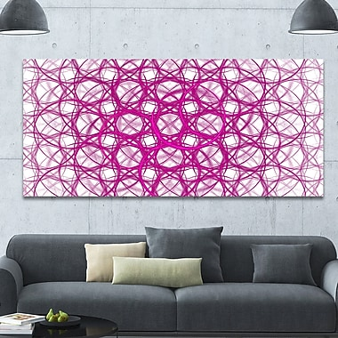 DesignArt 'Pink Unusual Metal Grill' Graphic Art on Wrapped Canvas; 28'' H x 60'' W x 1.5'' D