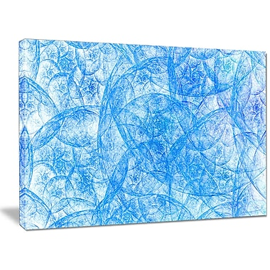 DesignArt 'Blue Fractal Dramatic Clouds' Graphic Art on Wrapped Canvas; 30'' H x 40'' W x 1'' D