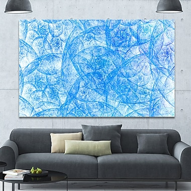 DesignArt 'Blue Fractal Dramatic Clouds' Graphic Art on Wrapped Canvas; 40'' H x 60'' W x 1.5'' D