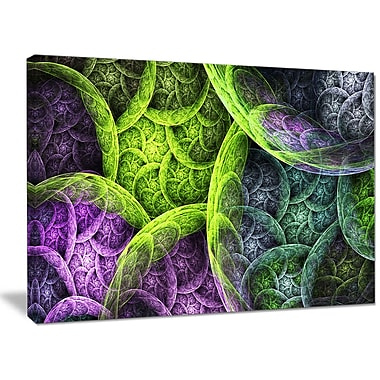 DesignArt 'Green Pink Colorful Clouds' Graphic Art on Wrapped Canvas; 30'' H x 40'' W x 1'' D