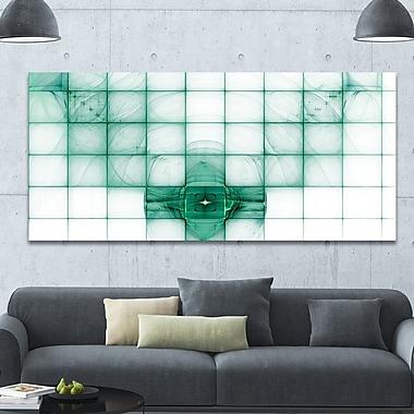 DesignArt 'Light Blue Bat on Radar Screen' Graphic Art on Wrapped Canvas; 28'' H x 60'' W x 1.5'' D