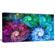 DesignArt 'Multi-Color Bright Exotic Flowers' Graphic Art on Wrapped Canvas; 12'' H x 20'' W x 1'' D