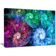 DesignArt 'Multi-Color Bright Exotic Flowers' Graphic Art on Wrapped Canvas; 30'' H x 40'' W x 1'' D