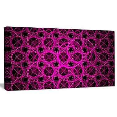 DesignArt 'Pink Unusual Fractal Metal Grill' Graphic Art on Wrapped Canvas; 12'' H x 20'' W x 1'' D