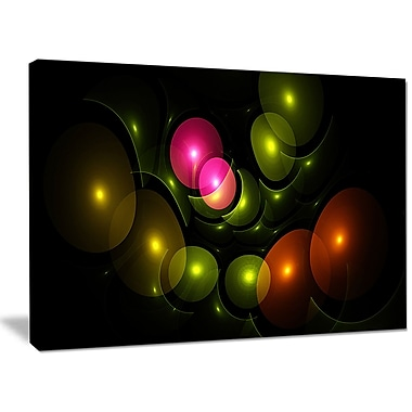 DesignArt 'Multi-Color 3D Surreal Circles' Graphic Art on Wrapped Canvas; 30'' H x 40'' W x 1'' D
