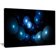 DesignArt 'Bright Blue 3D Surreal Circles' Graphic Art on Wrapped Canvas; 30'' H x 40'' W x 1'' D