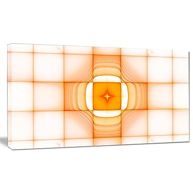 DesignArt 'Yellow Thermal Infrared Visor' Graphic Art on Wrapped Canvas; 12'' H x 20'' W x 1'' D
