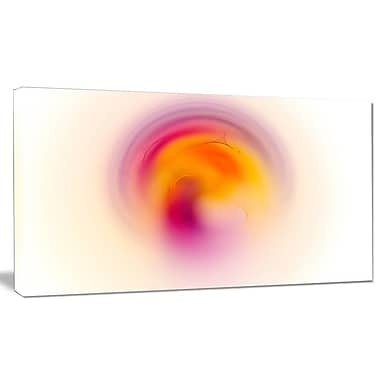 DesignArt 'Pink Yellow Luminous Misty Sphere' Graphic Art on Wrapped Canvas; 20'' H x 40'' W x 1'' D
