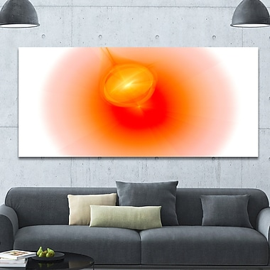 DesignArt 'Red Luminous Misty Sphere' Graphic Art on Wrapped Canvas; 28'' H x 60'' W x 1.5'' D