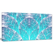 DesignArt 'Exotic Blue Biological Organism' Graphic Art on Wrapped Canvas; 12'' H x 20'' W x 1'' D