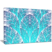 DesignArt 'Exotic Blue Biological Organism' Graphic Art on Wrapped Canvas; 30'' H x 40'' W x 1'' D