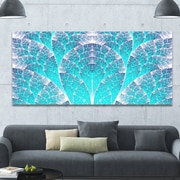 DesignArt 'Exotic Blue Biological Organism' Graphic Art on Wrapped Canvas; 28'' H x 60'' W x 1.5'' D