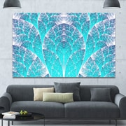 DesignArt 'Exotic Blue Biological Organism' Graphic Art on Wrapped Canvas; 40'' H x 60'' W x 1.5'' D