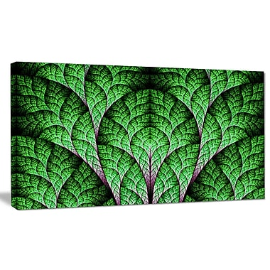 DesignArt 'Exotic Green Biological Organism' Graphic Art on Wrapped Canvas; 20'' H x 40'' W x 1'' D